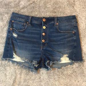 American Eagle Hi-Rise Shortie Denim Shorts